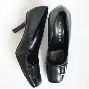 """Bandolino """"Flawless"""" leather buckle heel - EUC"""